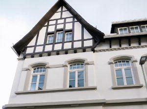 Eine restaurierte Fassade