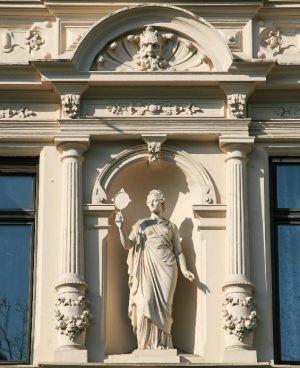 Details einer Fassadenrestaurierung